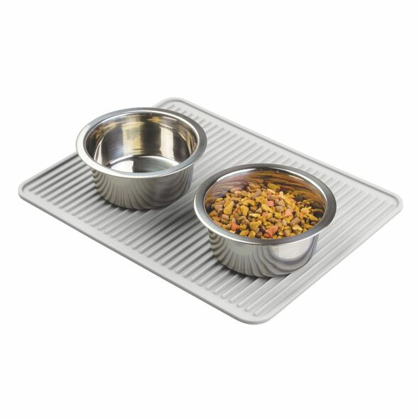 Large Slotted Silicone Pet Food and Water Bowl Mat