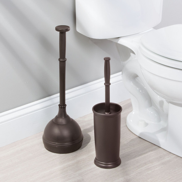 Bathroom Cleaning and Toilet Paper Storage Combo in Bronze - Set of 4