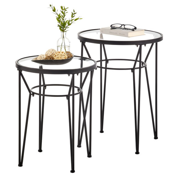 Round Hairpin Leg Accent Tables