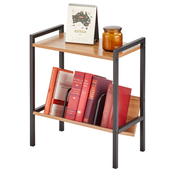 Side Table with Book Shelf