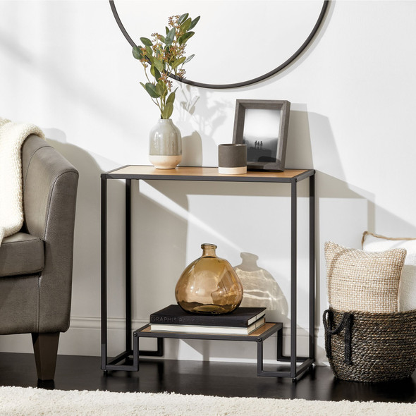 Inlay Top Modern Side Table