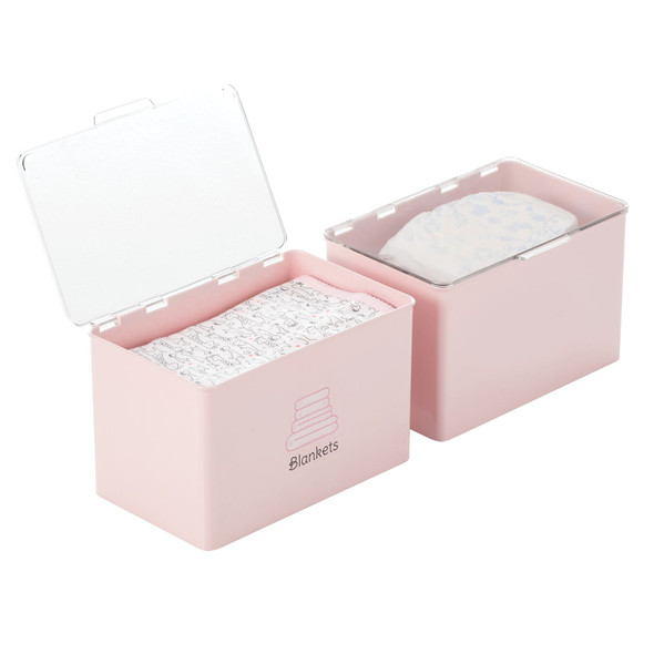 Plastic Baby Bins with Labels - Pack of 2