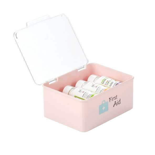 Plastic Stackable Baby Storage Bin with Hinged Lid