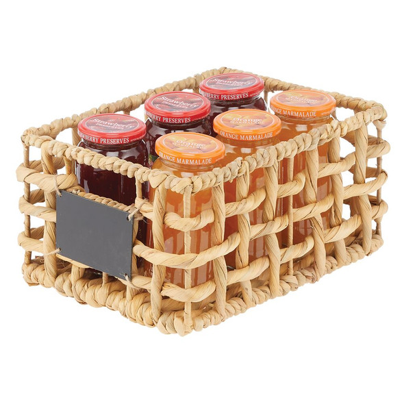 Open Weave Hyacinth Pantry Storage Boxes - Pack of 3