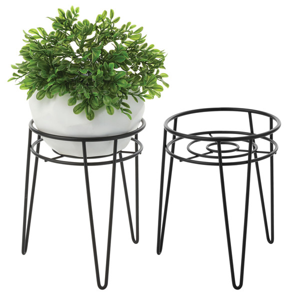 Metal Midcentury Modern Plant Stand - Pack of 2