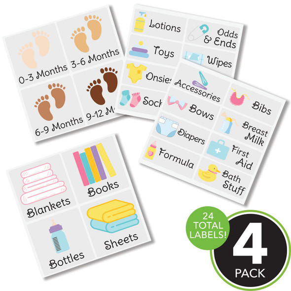 Baby + Kids Label Sheets