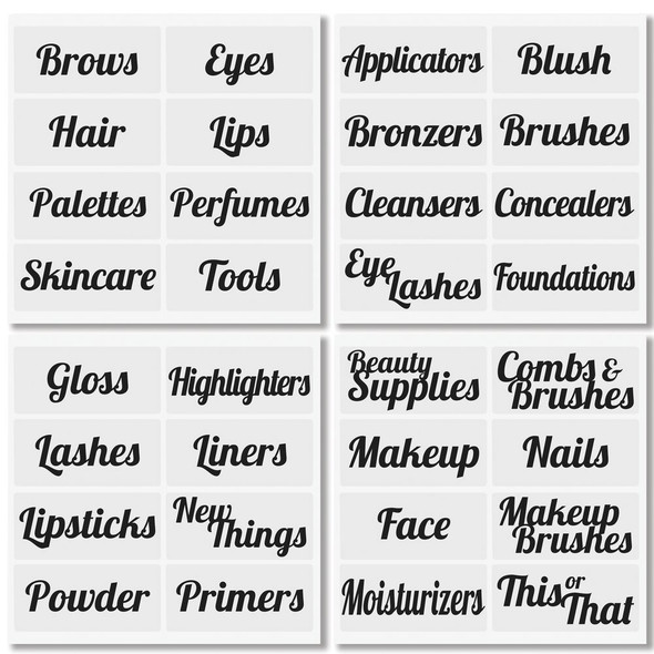 Cosmetic Label Sheets