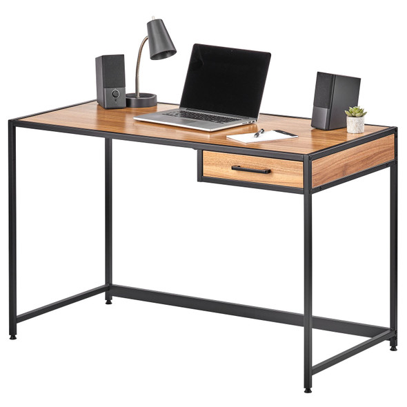 Metal & Wood Desk with Righthand Drawer