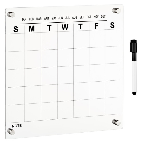 Wall Mount Monthly Calendar with Marker