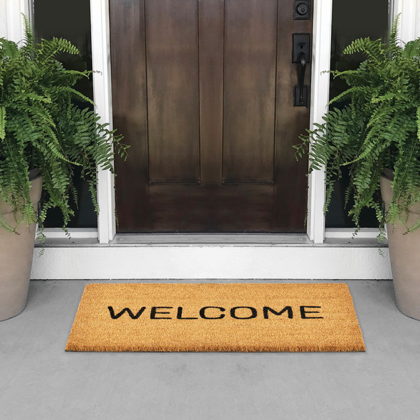 Welcome Print Entryway Mat