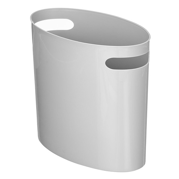 Modern Compact Plastic Oval Waste Can with Handles