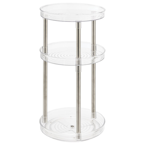 Tall 3-Tier Lazy Susan Turntable for Bath Storage