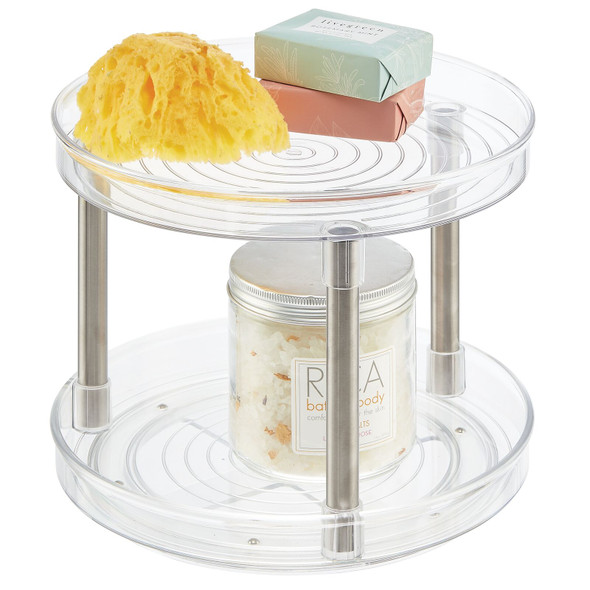 2-Tier Lazy Susan Turntable Spinner for Bathroom