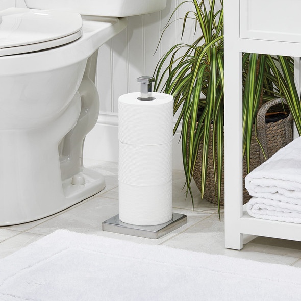 Modern Metal Toilet Tissue Paper Roll Stand