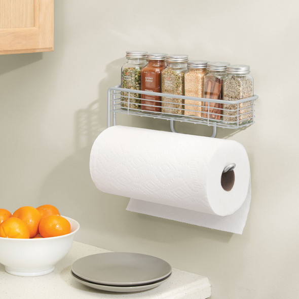 Wall Mount Spice + Paper Towel Holder