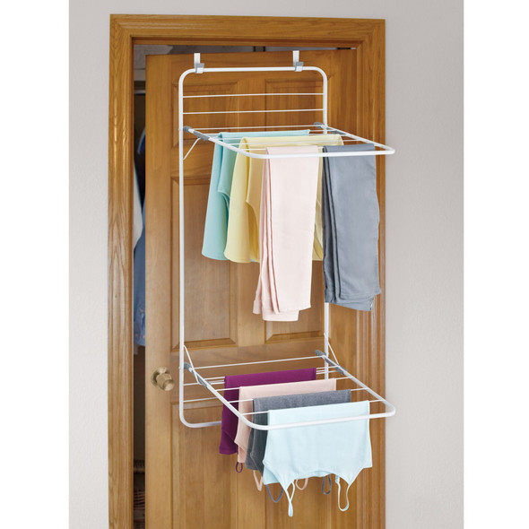 Over Door Laundry Clothes Storage Drying Rack