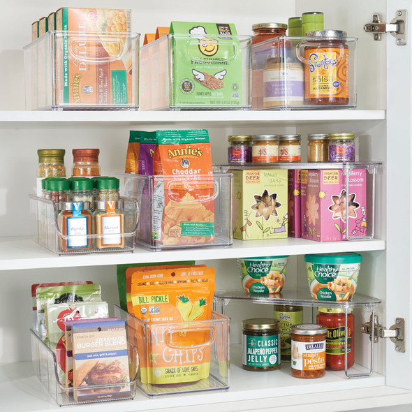 "3 Section Kitchen Pantry Food Storage Organizer Bin - 11"" x 5"" x 3.5"""