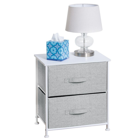 Storage Side End Table Night Stand Organizer, Fabric