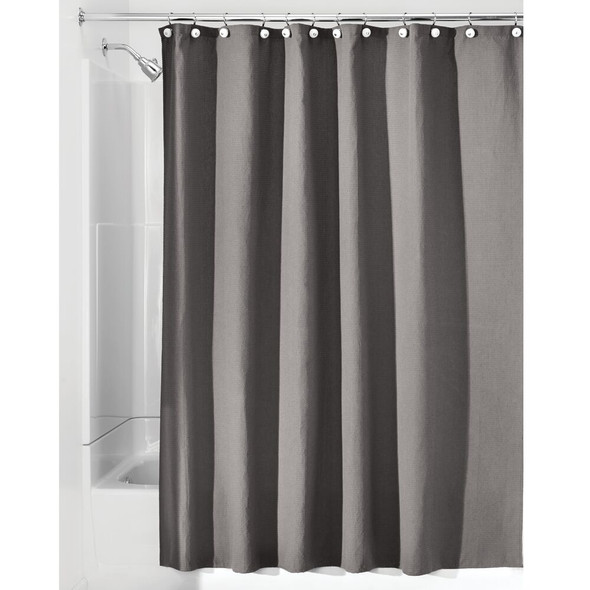 Waffle Weave Fabric Shower Curtain, 72 x 72""