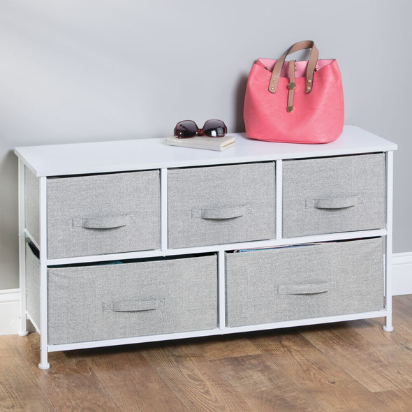 Wide Storage Entryway Organizer Unit Dresser Cabinet