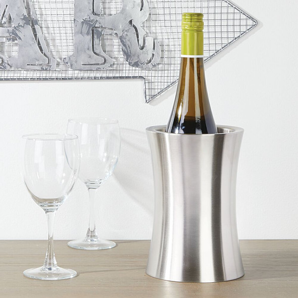 Tabletop Single Bottle Wine Cooler and Chiller - Double Wall Stainless Steel