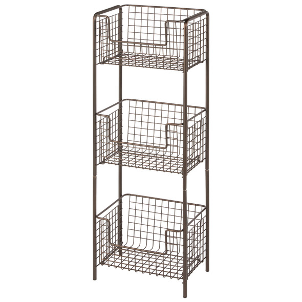 3 Tier Wire Free Standing Home Office Storage Shelf