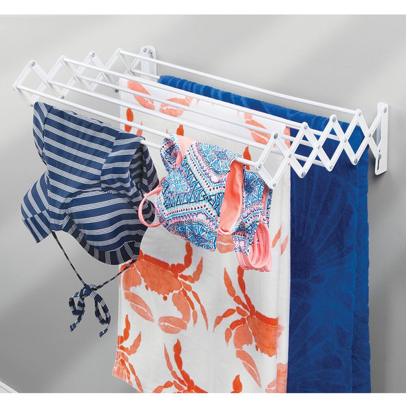 Wall Mount Accordion Laundry Clothes Drying Rack
