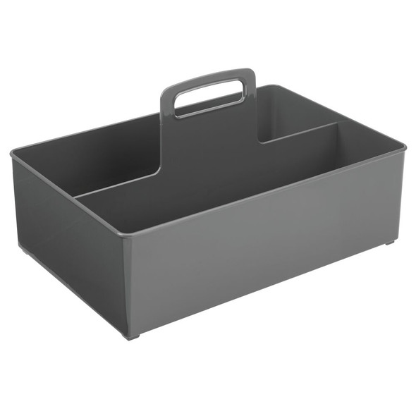 Large Plastic Kitchen Pantry & Cleaning Supplies Storage Caddy Tote