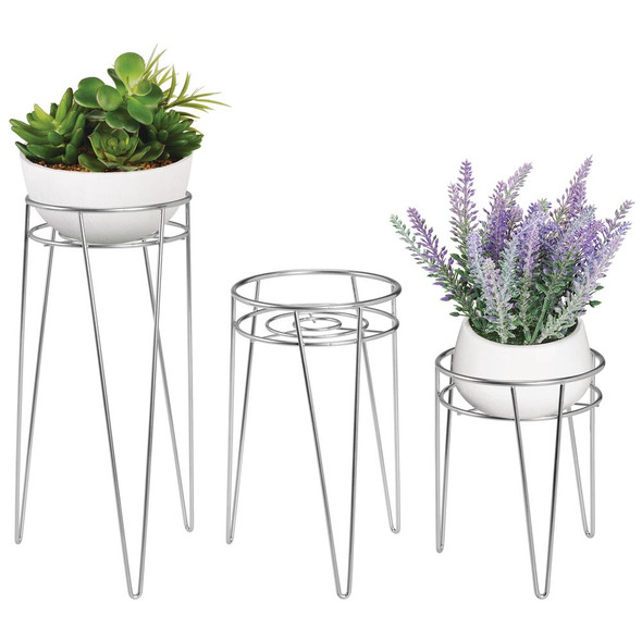 Metal Midcentury Modern Plant and Succulent Stand