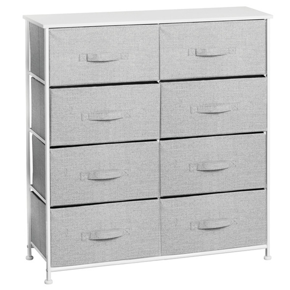 8 Drawer Fabric Storage Table Organizer Unit Dresser Cabinet