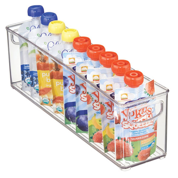 "Plastic Kitchen Storage Bin for Baby + Kids Supplies - 16"" x 4"" x 5"""