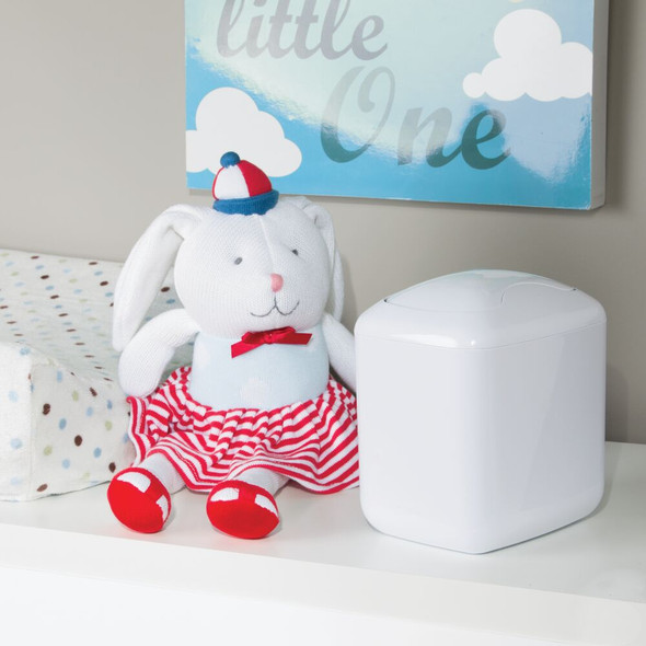 Mini Nursery Trash Can Countertop Storage, Swing Lid