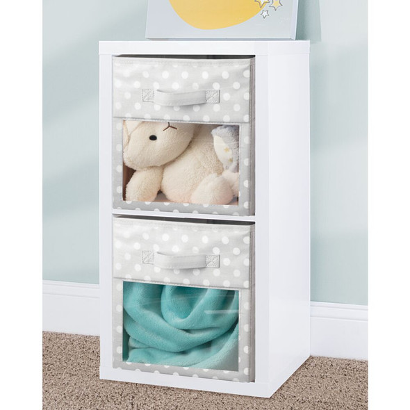 "Kids Room Fabric Cube Storage Bin Closet Organizer - 10.5"" x 10.5"" x 11"""