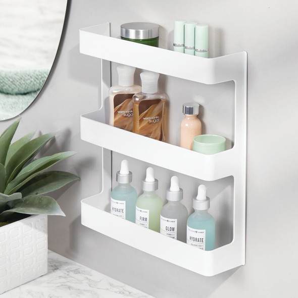 3 Tier Large Wall Mount Vitamin Storage Organizer Shelf