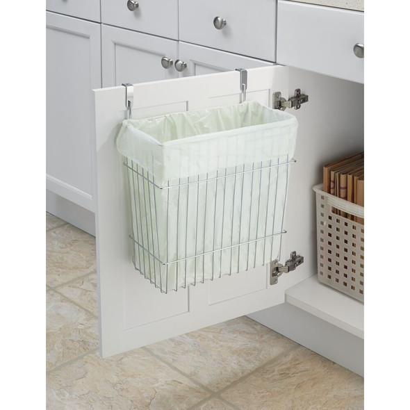 Over Cabinet Door Kitchen Storage Basket, Trash Can