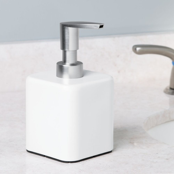 Square Metal Refillable Soap Dispenser Pump