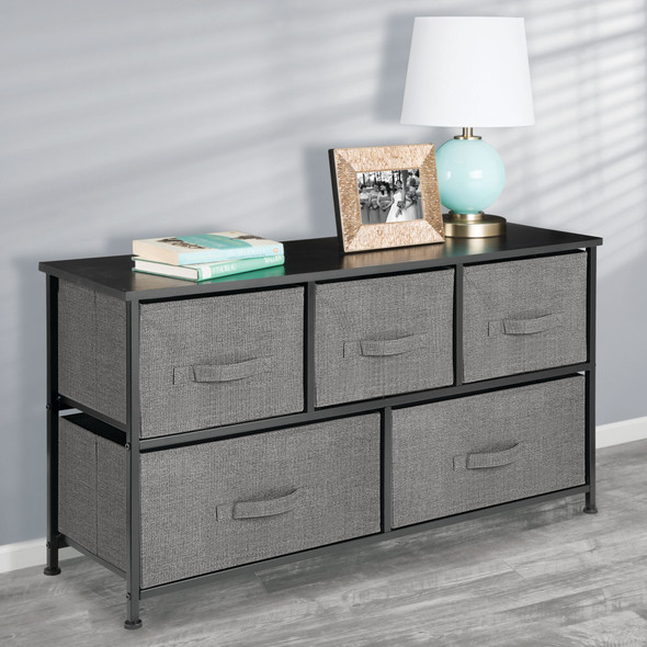 5 Drawer Wide Fabric Storage Dresser Organizer