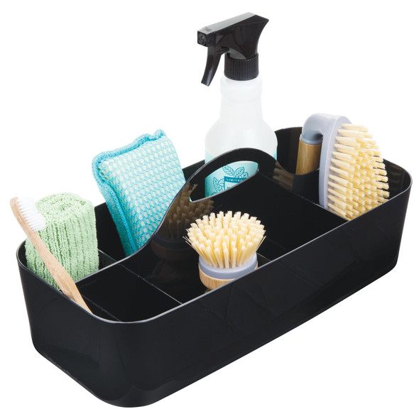 Large Plastic Cleaning Supplies Storage Caddy Tote
