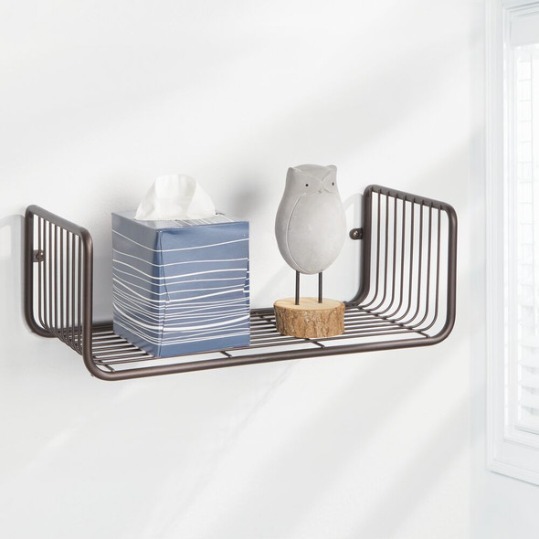 Decorative Metal Storage Organizer Shelf For Bathroom Storage