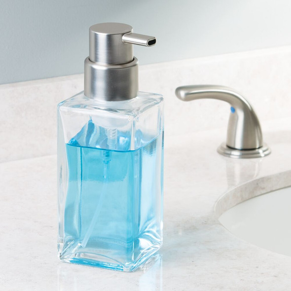 Square Glass Refillable Foaming Soap Dispenser Pump - Pack of 2