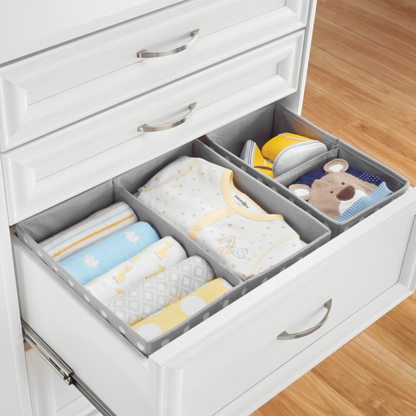 Kids Fabric Closet and Dresser Drawer Storage Organizer