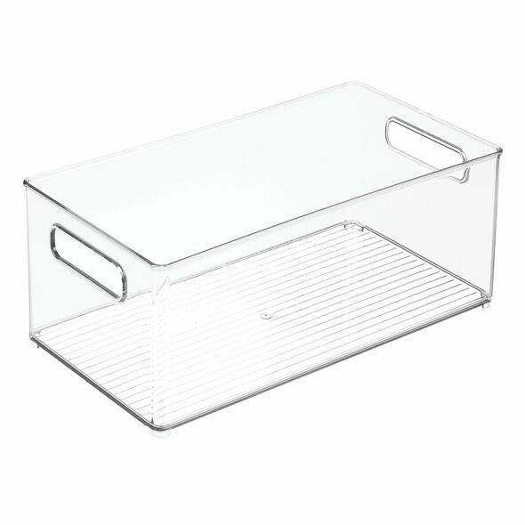 "Large Plastic Baby + Kids Storage Bin With Handles - 14.5"" x 8"" x 6"""