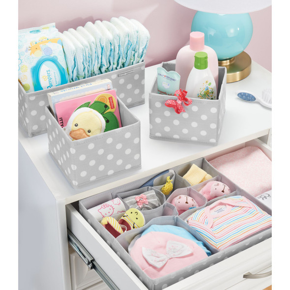 Baby + Kids Fabric Dresser Drawer Storage Organizer