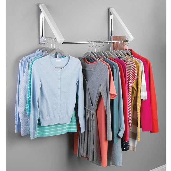 Expandable Wall Mount Laundry Clothes Drying Rack