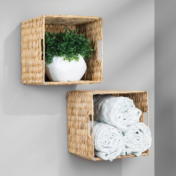 Natural Woven Storage Cube Basket Bin - Hyacinth