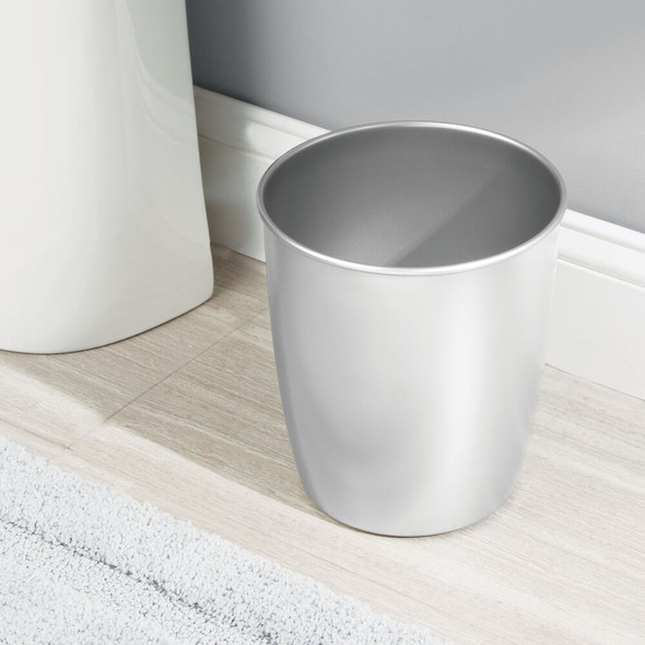 Small Modern Metal Round Trash Can Bin