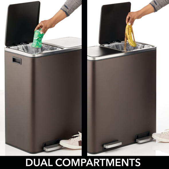 Modern 60 Liter Metal Step Trash Can Garbage Bin