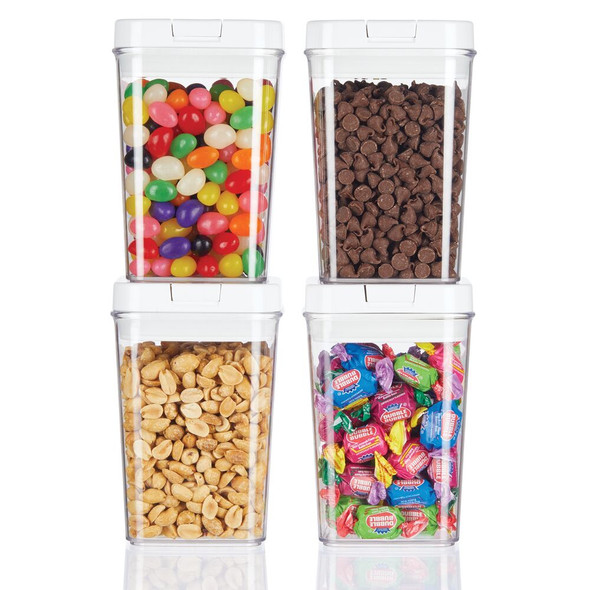 Airtight Food Storage Container with Lid for Kitchen, Pack of 4