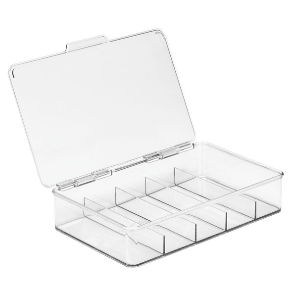 Stacking Eyeglass Storage Organizer Box, 5 Sections
