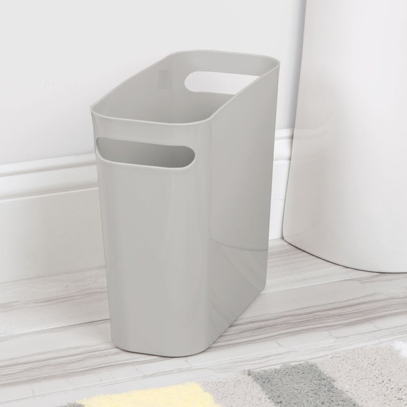 "Small Plastic Garbage Bin Trash Can, 10"" High"